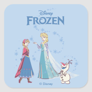 Frozen | Elsa, Anna & Olaf Square Sticker