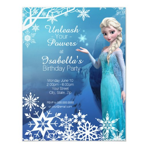 Elsa Birthday Invitations and get inspiration to create nice invitation ideas