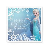Frozen Elsa Birthday Paper Napkin