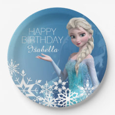 Frozen Elsa Birthday Paper Plate at Zazzle