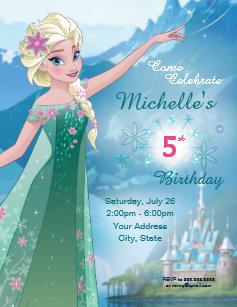Frozen birthday invitations zazzle frozen elsa birthday party invitation filmwisefo