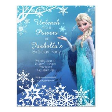 disney Frozen Elsa Birthday Party Invitation