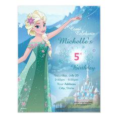 Frozen Elsa Birthday Party Invitation at Zazzle