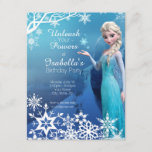 """Frozen Elsa Birthday Party Invitation<br><div class=""""desc"""">Customize this Disney Frozen Birthday Party Invitation,  perfect for any occasion!</div>"""
