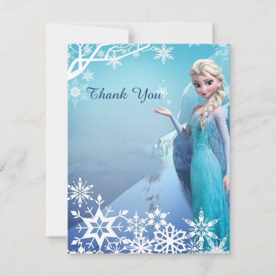 Frozen Elsa Birthday Party Thank You Zazzle