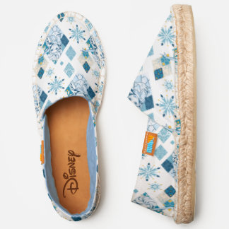 Frozen   Elsa Diamond Snowflake Pattern Espadrilles