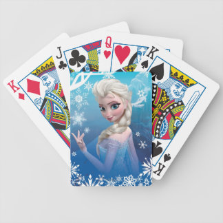 Frozen | Elsa Over the Shoulder Smirk Bicycle Playing Cards
