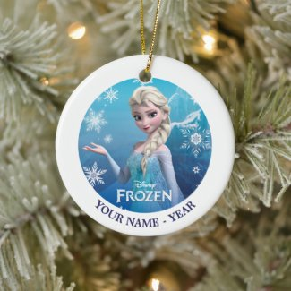 Frozen | Elsa Over the Shoulder Smirk Ceramic Ornament