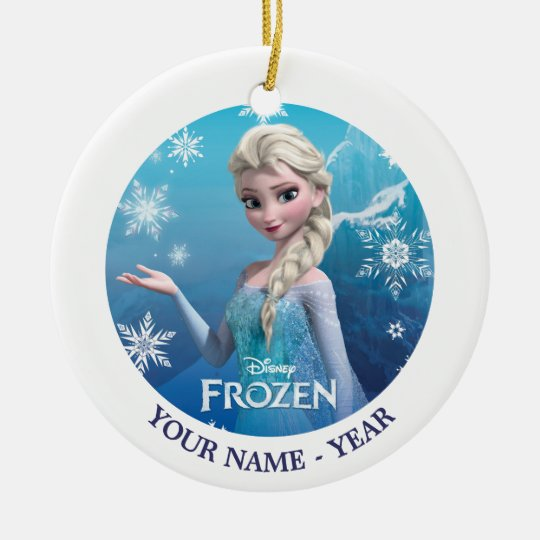 frozen elsa over the shoulder smirk ceramic ornament - Elsa Christmas Decoration