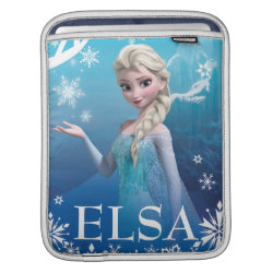 iPad Sleeve with Frozen's Princess Elsa of Arendelle design