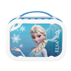 Blue yubo Lunch Box with Frozen's Princess Elsa of Arendelle design