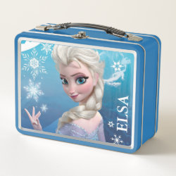 Metal Lunch Box with Frozen's Princess Elsa of Arendelle design