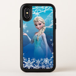 Frozen | Elsa Over the Shoulder Smirk OtterBox Symmetry iPhone X Case