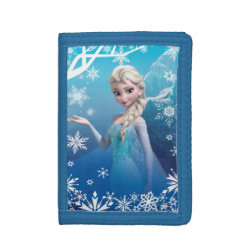 TriFold Nylon Wallet with Frozen's Princess Elsa of Arendelle design