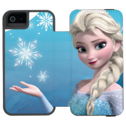 Incipio Watson™ iPhone 5/5s Wallet Case with Frozen's Princess Elsa of Arendelle design