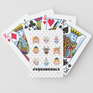 Frozen Emoji Characters Bicycle Playing Cards