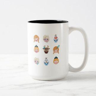 Frozen Emoji Characters Two-Tone Coffee Mug