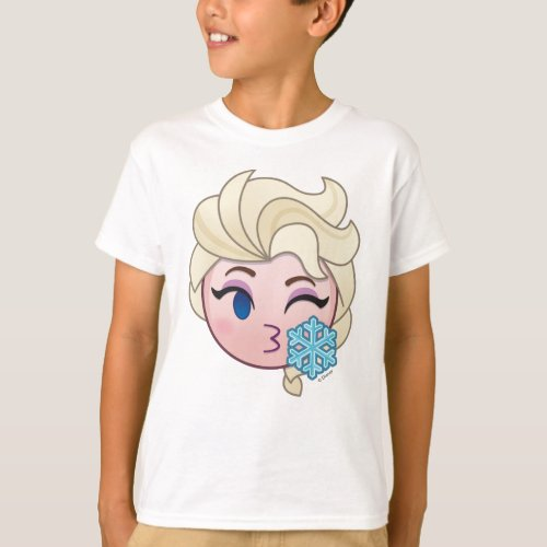 Frozen Emoji  Elsa Throwing a Kiss T_Shirt
