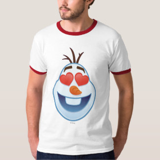Frozen Emoji | Olaf with Heart-Shaped Eyes T-Shirt