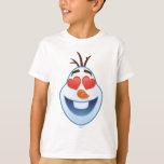 Frozen Emoji | Olaf with Heart-Shaped Eyes T-Shirt