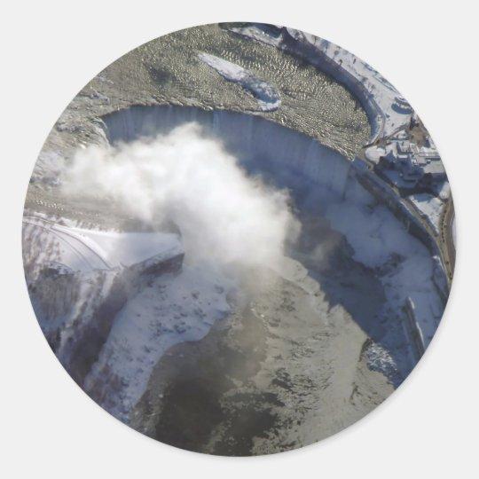 Frozen Falls Classic Round Sticker