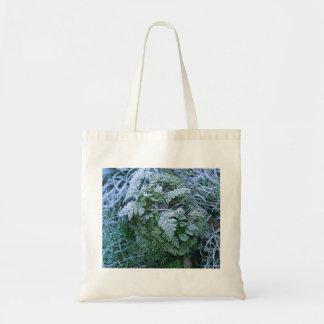 Frozen Fern on a Tree Stump Bag