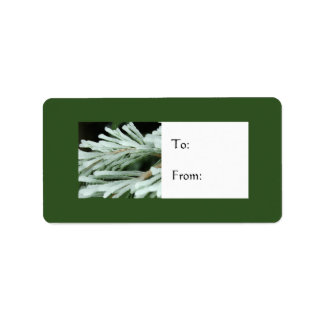 Frozen Fir Tree Holiday Gift Label Address Label