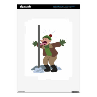 Frozen Flagpole Tongue Decal For iPad 3