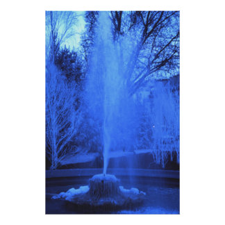 Frozen Fountain, Winter in Paris Poster