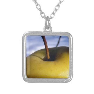 Frozen Fruit Square Pendant Necklace