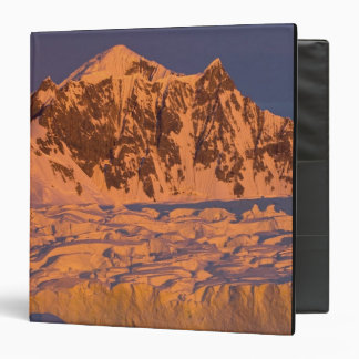 frozen glacial mountain landscape along the binder