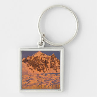 frozen glacial mountain landscape along the keychain