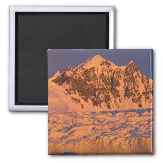 frozen glacial mountain landscape along the 2 inch square magnet