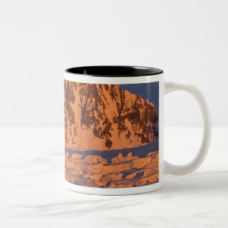 frozen glacial mountain landscape along the Two-Tone coffee mug
