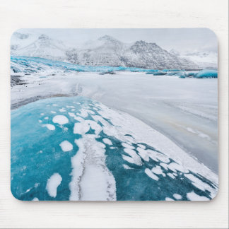 Frozen glacier ice, Iceland Mouse Pad