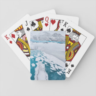 Frozen glacier ice, Iceland Playing Cards