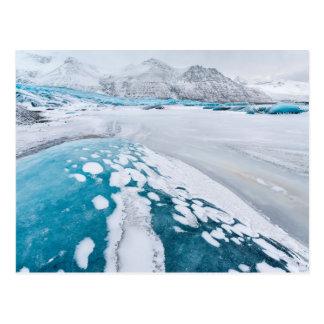 Frozen glacier ice, Iceland Postcard
