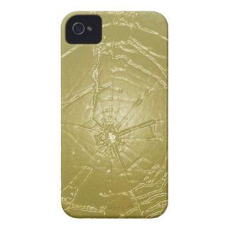 Frozen Golden Spider Web iPhone 4 Case