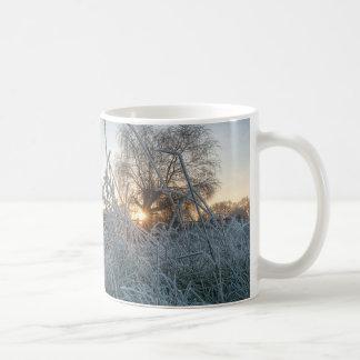 Frozen grass in Richmond Park Coffee Mug