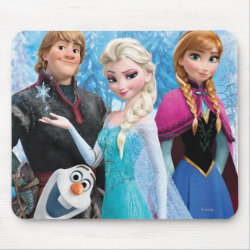 Mousepad with Frozen's Anna, Elsa, Kristoff & Olaf design
