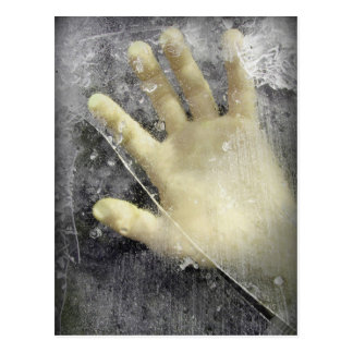 Frozen hand design postcard