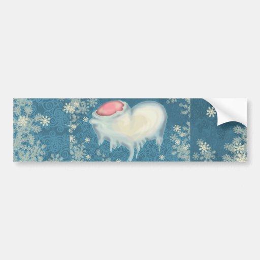 Frozen Heart Bumper Sticker