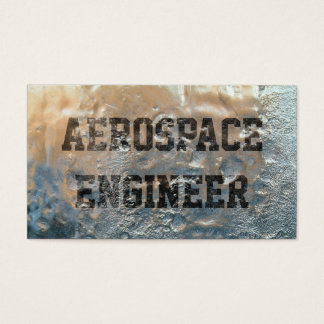Frozen Ice Aerospace Engineer Business Card