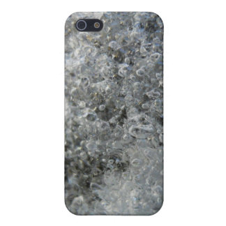 Frozen Ice and Snow Abstract Crystal Bubbles iPhone SE/5/5s Cover