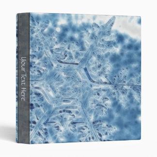 Frozen Ice Crystal Fractal Snowflake Binder