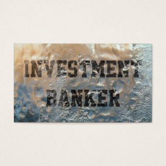 Frozen Ice Investment Banker Business Card