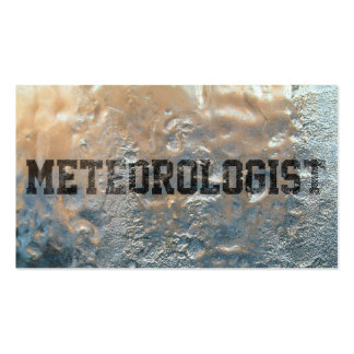 Frozen Ice Meteorological Business Card