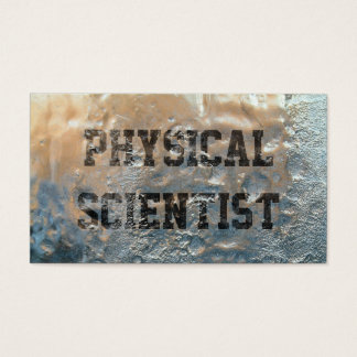 Frozen Ice Physical Scientist Business Card
