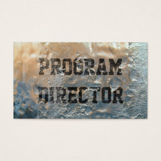 Frozen Ice Program Director Business Card