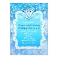 frozen snowflake invitations zazzle